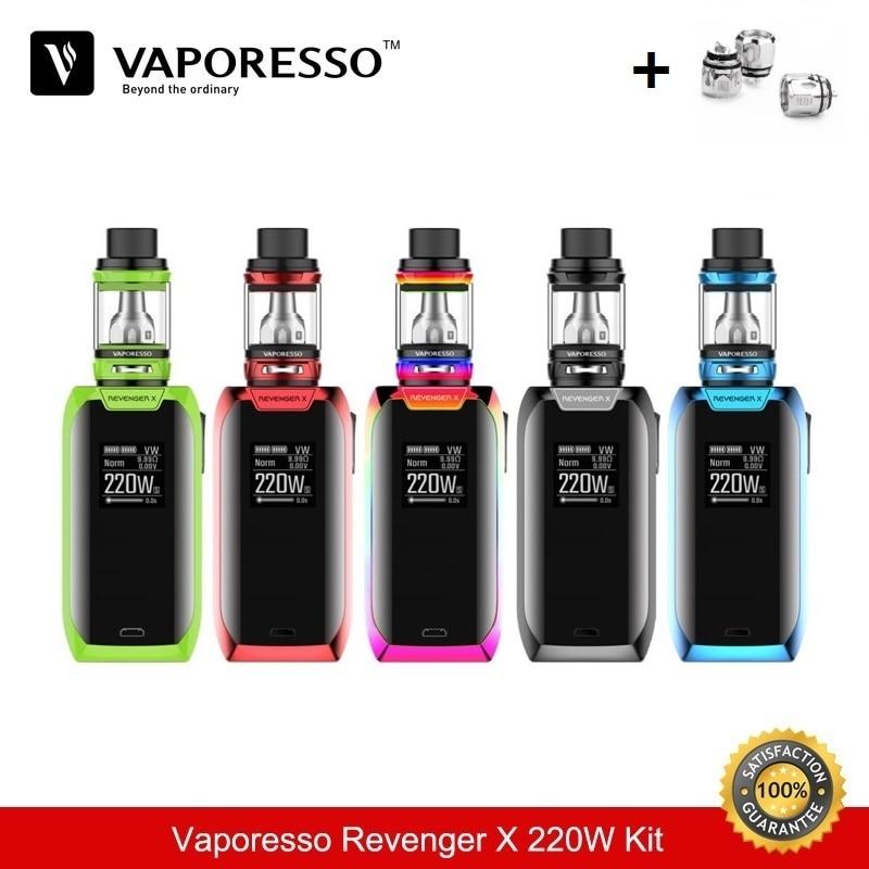 Vaporesso Cigarette électronique Revenger X 220 W TC boîte Mod boîte Mod Vape 5 ML e Cigarette réservoir vaporisateur Vaper vapeur Cigarette 510