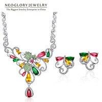 Neoglory Colorful Austrian Rhinestone Fashion Beads Jewelry Set 2018 New for Women Brand Colf Colf s Zir s