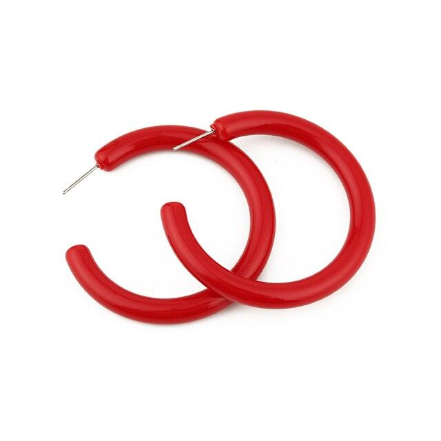 Dayoff Europe Red Acetic Acid Gold Hoop Earrings Women Jewelry Big Round Transparent Eardrop Resin Open.jpg 640x640 - Dayoff Europe Red Acetic Acid Gold Hoop Earrings Women Jewelry Big Round Transparent Eardrop Resin Open Hoop Earrings E236