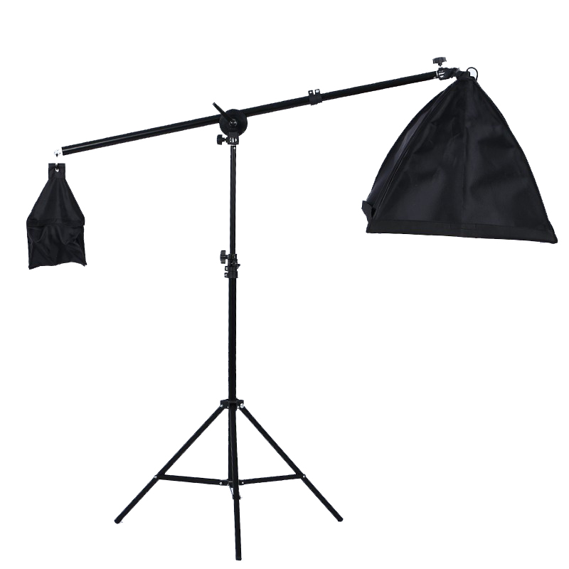 Photography Studio Video Photo Accessories 2M Light Stand + 50*70CM Softbox Lighting Tent + Dome Boom Arm Light Frame Kit Set photo studio arm bar with lighting boom 2m light stand boom photography kit cross arm