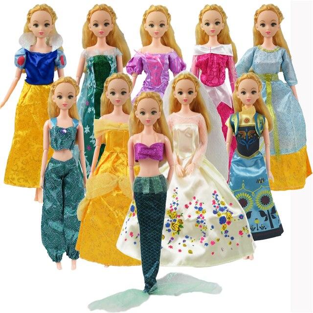 5 unids barbie muecas vestido similar cuento de hadas princesa snow 5 unids barbie muecas vestido similar cuento de hadas princesa snow white cinderella anna vestido de thecheapjerseys Choice Image