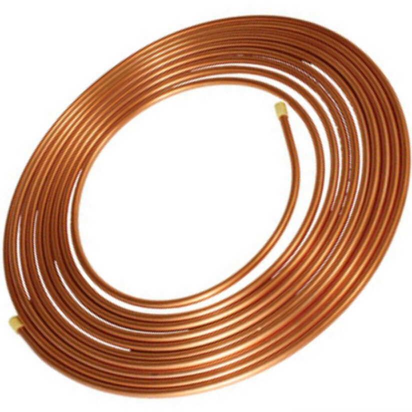 10X1mm Copper tube/hose/soft copper pipe/pure copper pipe/tube/coil/air conditioner hardware copper coiled pipe size 12 7 0 8mm 15meter length soft condition air condition ferigerator tube refrigerant liquid pipe r410a