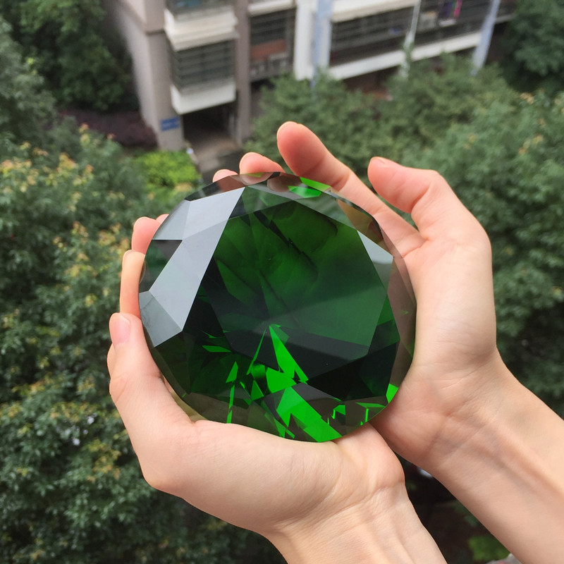 1PC Clear Crystal Diamond Shape Paperweight Glass Gem Display Ornament 30mm