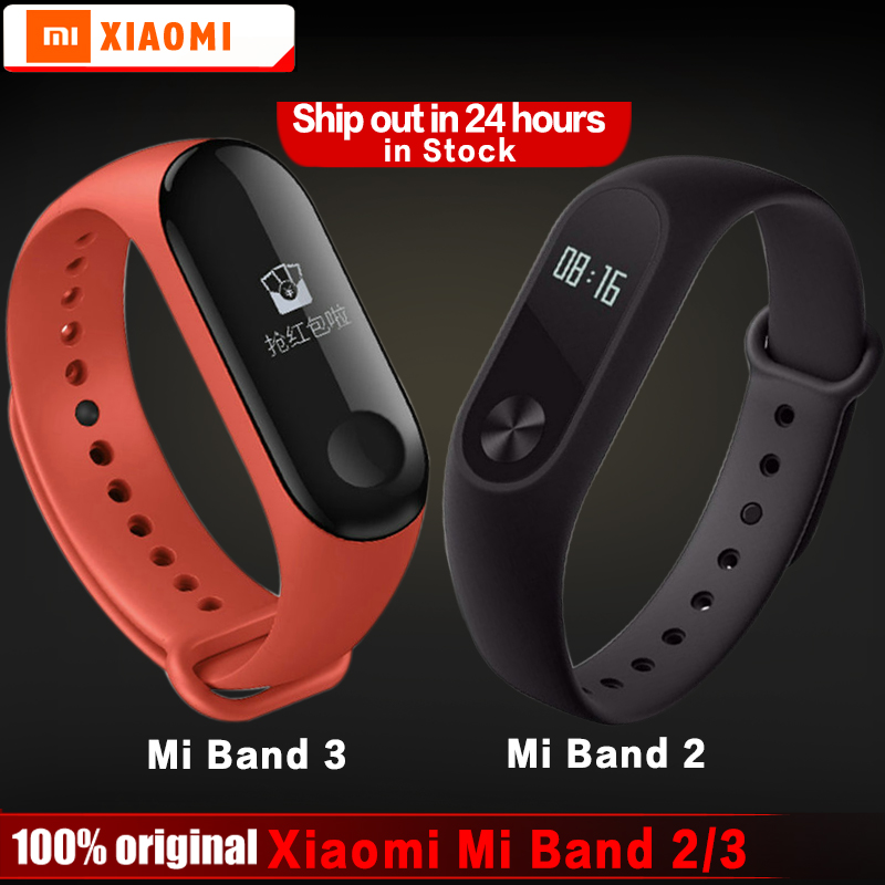Original xiaomi mi band 2 3 bracelet wristband miband 2 3 Fitness Tracker Smart Bracelet Heartrate Monitor Android