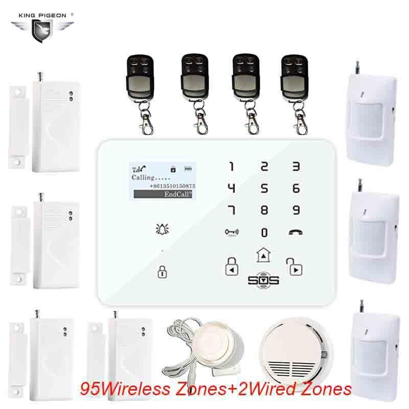GSM Alarm Android Russian Keyboard System Outdoor Wireless Motion Sensor For Elder DM 100 Door Sensor 433 Mhz DHL Free Ship K9B