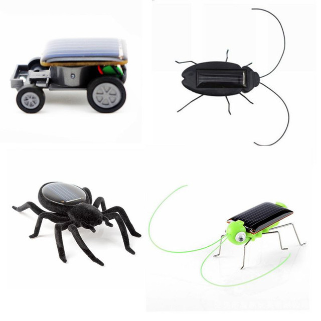Solar Toys For Kids Smallest Solar Power Mini Toy Car Racer Educational Solar Powered Toy cockroach ABS Dropshipping Z703 1