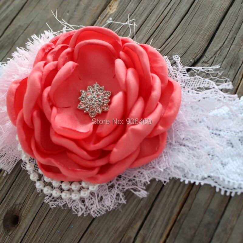 Опаленные цветок, записанные Сатиновыми цветами, сожгли Роза, ручной работы сожгли края повязка на голову с цветком для девочек дети Свадеб... ...