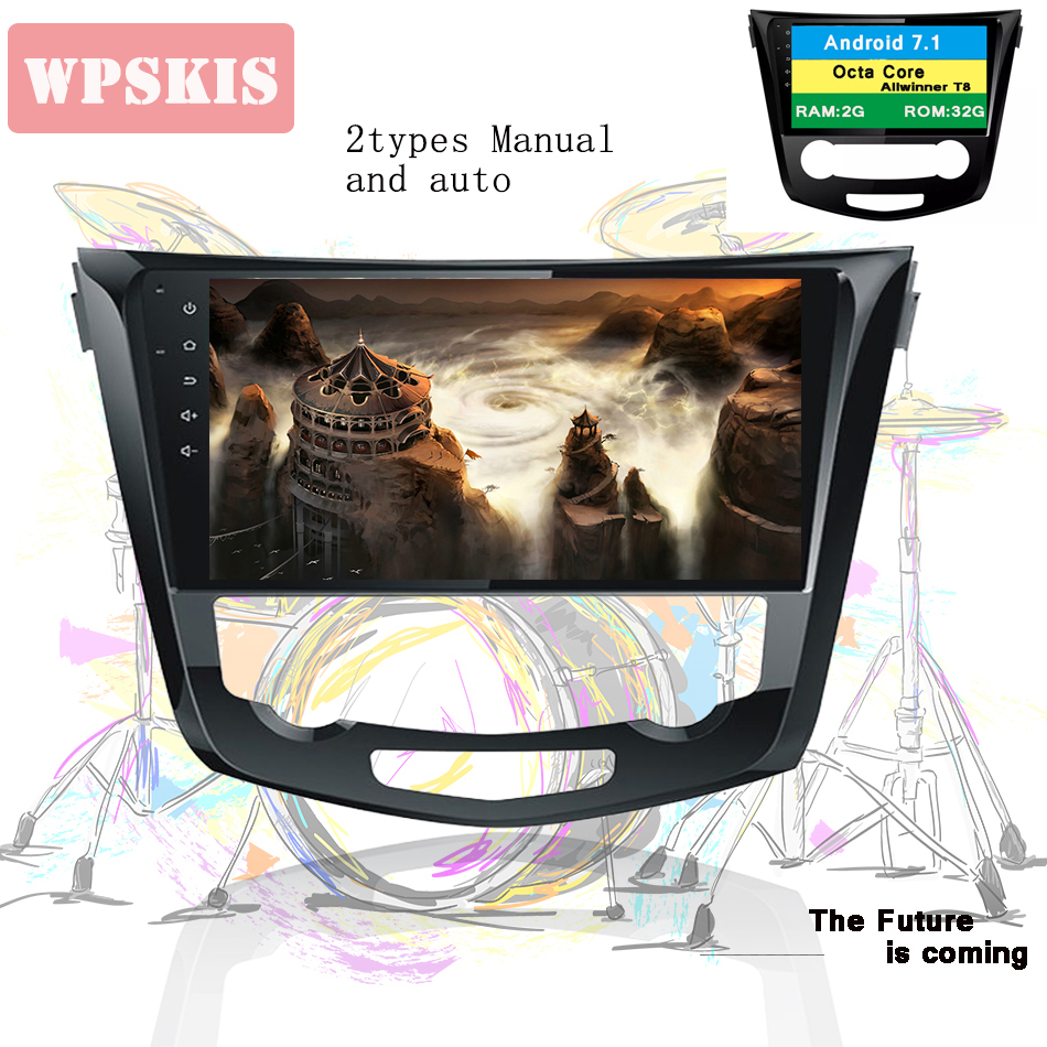 2Din 10 1 Android 9 0 Car DVD Radio Player Fit Nissan qashqai X Trail 2014