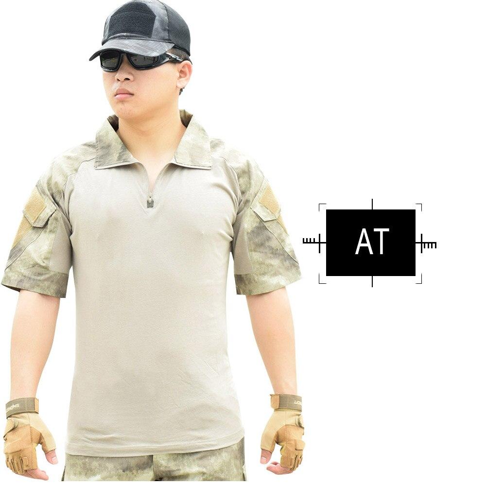Jacken Herzhaft Sinairsoft Sommer Taktische Hunging Kleidung Atmungsaktiv Quick Dry Military Camouflage Patchwork T-shirt Im Freien Wandern Klettern