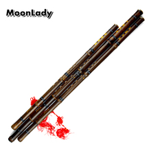 цена на Black Lines Chinese Traditional Flute Xiao Key A/F/G Handmade Bamboo Wind-instrument 8 Holes Professional Instrument