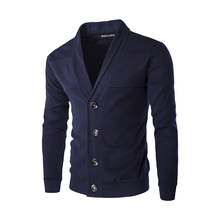 New autumn fashion brand cardigans men casual cardigan lapel self - knitting sweater