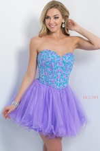 Sexy Schatz Perlen Kurze Prom Kleider 2015 Schulterfrei Mini Lace-up Homecoming Kleider Prom Party Cocktail DressesB98