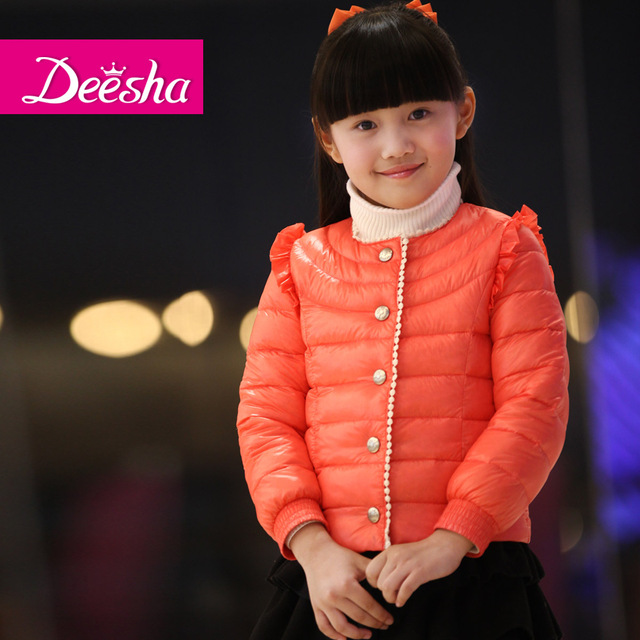 DEESHA 2012 female child down coat child down coat short design child