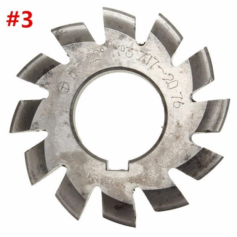 Diameter 22mm M3 20 Degree #3 Involute Gear Cutters HSS High Speed Steel Module HOT Machine Tools Accessories  цены