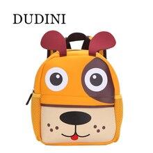 Dudini nueva 3d diseño animal lindo mochila niños bolsas escolares para adolescentes niños perro en forma de mono de dibujos animados los niños mochilas