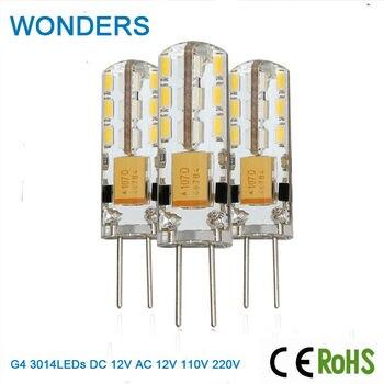 цена на G4 LED Bulb Lamp High Power 1.5/3/5W SMD 3014 DC/AC 12V AC110V 220V White/Warm White Light replace Halogen Spotlight Chandelier