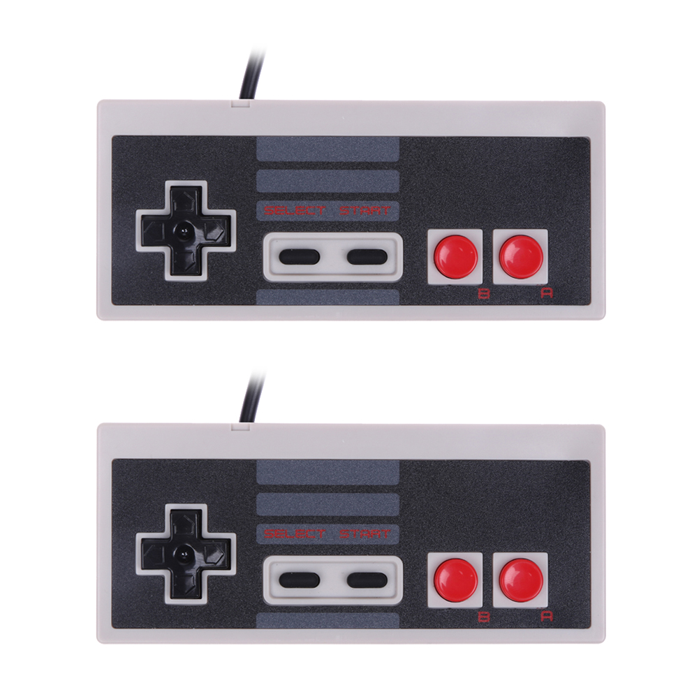 2pcs Set New Game Controller Wired Joypad Gaming Controller Joystick Gamepad for Nintendo NES Classic