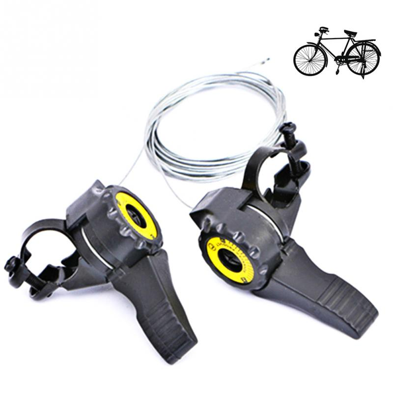 Perfeclan 1 Pair 3x6//7 Speed MTB Bike Thumb Gear Shifter Top Mount Shifters