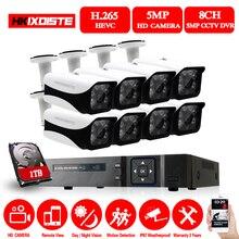 HKIXDISTE 5.0MP CCTV Camera System 5MP CCTV Surveillance Kit 8CH DVR 1944P Video Output Kit Security Easy Remote View on Phone