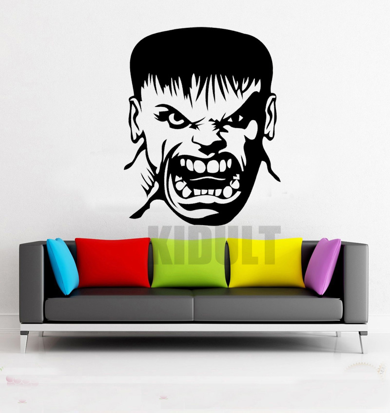 Buy Angry Hulk Head Wall Decals Dc Marvel