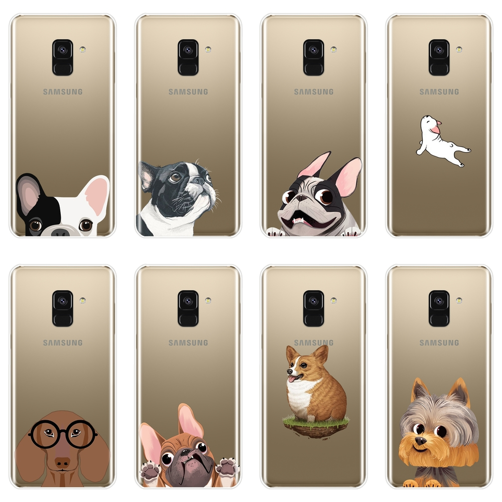 <font><b>Case</b></font> For <font><b>Samsung</b></font> <font><b>Galaxy</b></font> <font><b>A3</b></font> A5 A7 2016 <font><b>2017</b></font> Silicone Soft Pug <font><b>Dog</b></font> Corgi Back Cover For <font><b>Samsung</b></font> A5 A7 2018 A6 A8 Plus <font><b>Phone</b></font> <font><b>Case</b></font> image