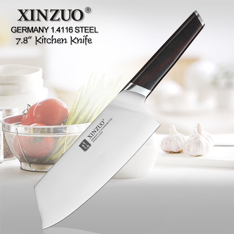 XINZUO 7.8 Kitchen Knife Stainless Steel DIN 1.4116 Nakirir Knives High Quality New Vegetable Chopping Meat Knife Ebony HandleXINZUO 7.8 Kitchen Knife Stainless Steel DIN 1.4116 Nakirir Knives High Quality New Vegetable Chopping Meat Knife Ebony Handle