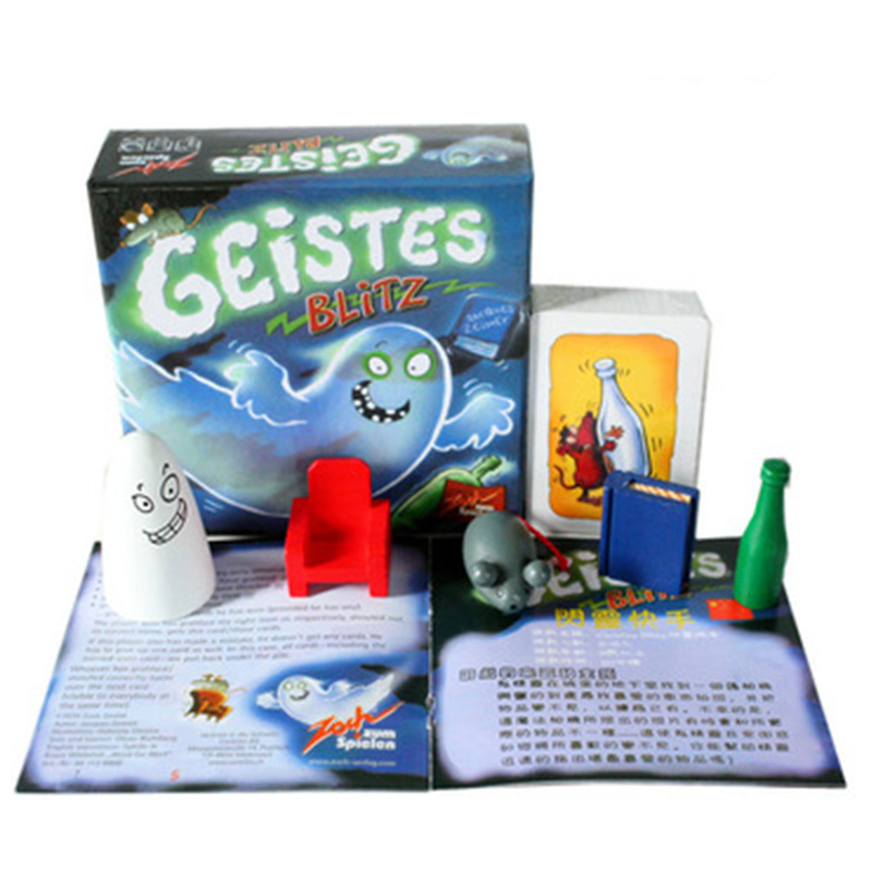 New Geistes Blitz 1 Board Game 2-8 Players Family/Party Best Gift for Children Kids Fans Cards Game Reaction Game