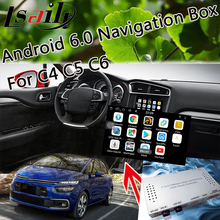 Plug&Play Android 6.0 Navigaiton Interface for 2014-2018 Citroen C4 C5 C6 SMEG+ with Live Navigation , 3D Map , WIFI , Yandex