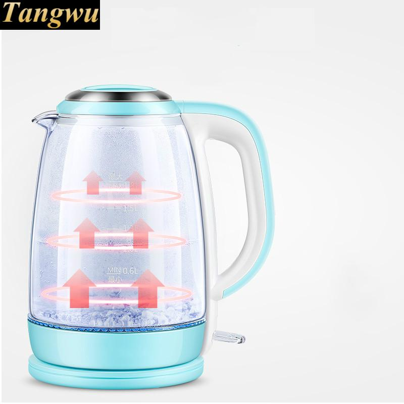 electric kettle used automatic power failure 304 glass kettles Safety Auto-Off Function цена и фото