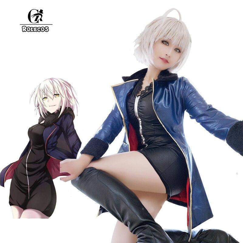 Rolecos fgo alterar Cosplay Fate gran orden Disfraces Anime Mash kyrielight sable Cosplay disfraces juego Jeanne d'arc completo Sets