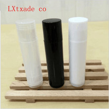 Free Shipping 5g/ml White Clear Black Plastic Lipstick tube empty packing bottle Batom Lip Balm Empty Cosmetic Containers free ems shipping cosmetic metal filling mould for lipstick lip balm plus 24 pcs lip balm tube for testing