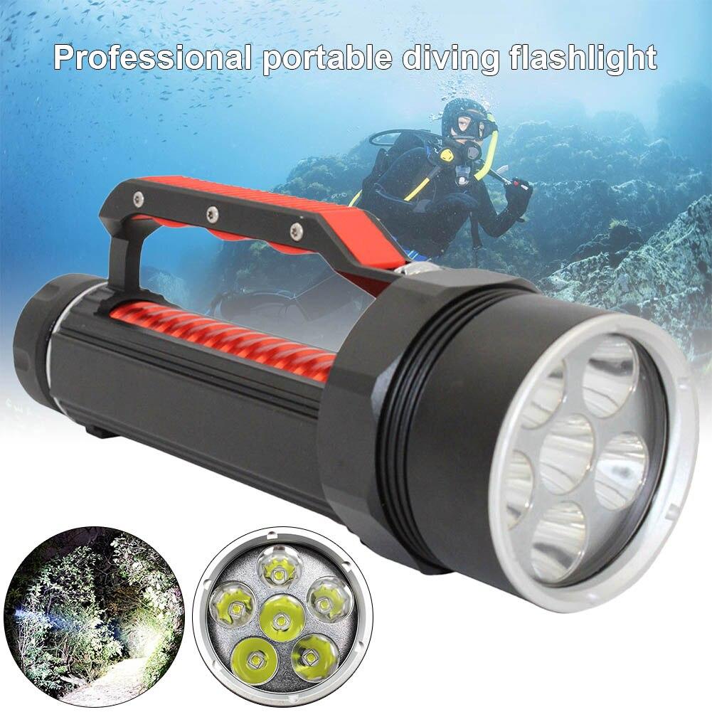 1 pièces LED lampe de poche de plongée torche Portable lampe étanche haute puissance sous-marine-M25