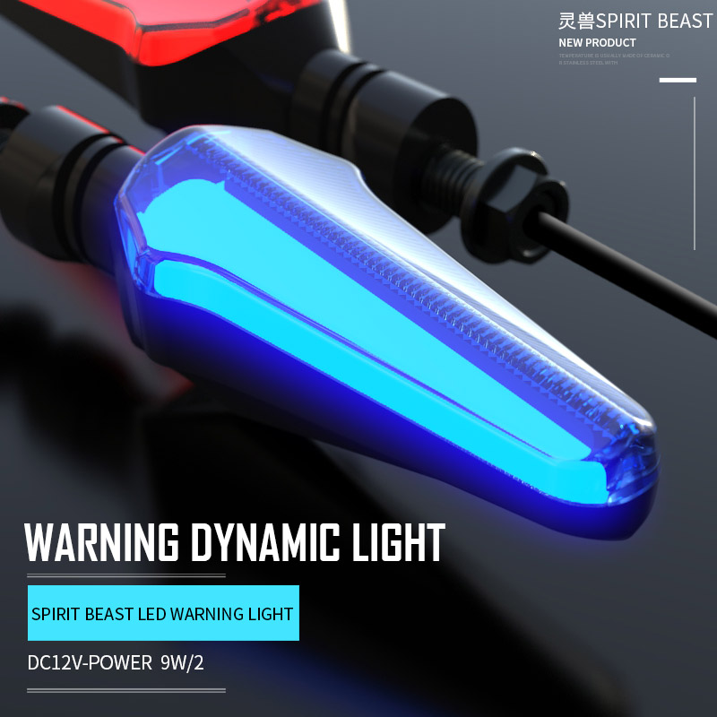 Motorcycle Turn Signal Mobile Accessories Decorative LED Indicator 12V Motorbike Super Bright Lights Waterproof Spirit Beast