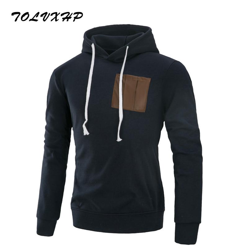 TOLVXHP Brand 2018 Hoodies Brand Men Pocket Design Sweatshirt Male Hoody Hip Hop Autumn Winter Zipper Hoodie Mens Pullover