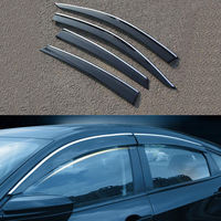 4DR Car Window Visor Shade Vent Rain Guard Deflector Fit For Honda Civic 2016 2017