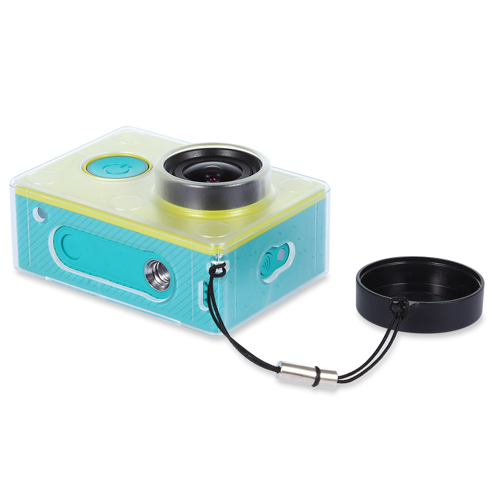 Image 5 - Crazy Sale Protective Case Skin For Xiaomi YI Action Camera Accesorios Transparent Protective Cover With Lens Cap For Xiao Yi-in Sports Camcorder Cases from Consumer Electronics