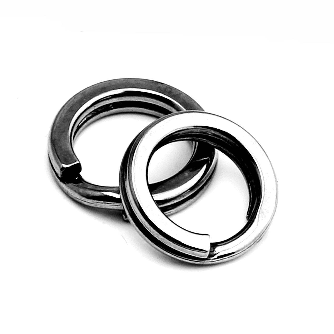 20pcs/lot Stainless Steel Hook 3 /4 /5 /6 /7 Double Loop Split Tool Split Rings AccessoriesCarp Gear Swivel Lure Baits
