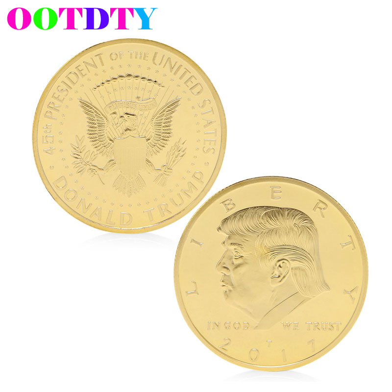 President Donald Trump Design Commemorative Coin Zinc Alloy Commemorative Coin Collection No-currency Coins Gift Black Friday