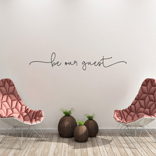 Removable be our guest Text Wall Sticker For Living Room Art Decals Bedroom Wallpaper