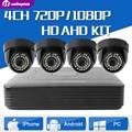 Full HD 720 P 4CH AHD DVR Security System Комплект 1.0MP Дома крытый Купол CCTV Комплект Системы 4 Каналов Видеонаблюдения AHD Камеры Комплект