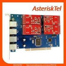 TDM410P с 4 модули FXO и FXS-FXS FXO карты совместимы Sangoma карты digium tdm400p карта Asterisk VoIP PBX