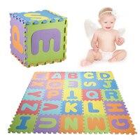 36 pcs EVA Puzzle enfants mini EVA Mousse Alphabet Lettres Chiffres Sol Souple Tapis de Jeu Pour Bébé 3d puzzle Enfants Éducatifs jouets