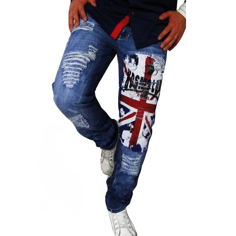 La Moda De Nueva Marca Pantalones Para Hombre Pantalones Hombres Superventas Agujero Negro Pantalones De Mezclilla Sueltos Estilo De Hombre Pantalones A8828 Male Jeans Pants Jeans Pantsjeans Pant Brands Aliexpress