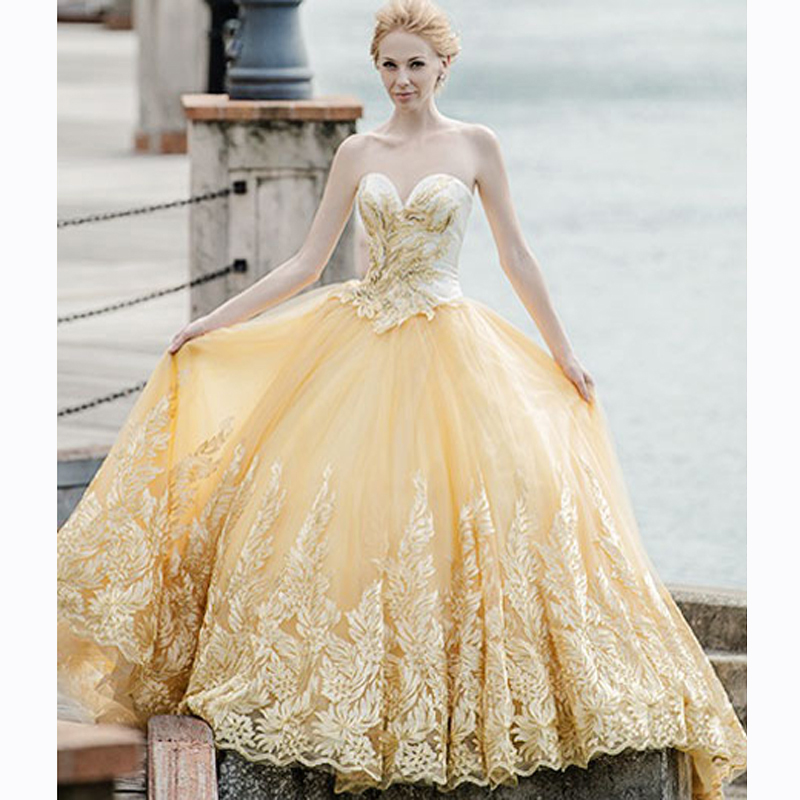 Popular Light Yellow Wedding Dress-Buy Cheap Light Yellow Wedding ...