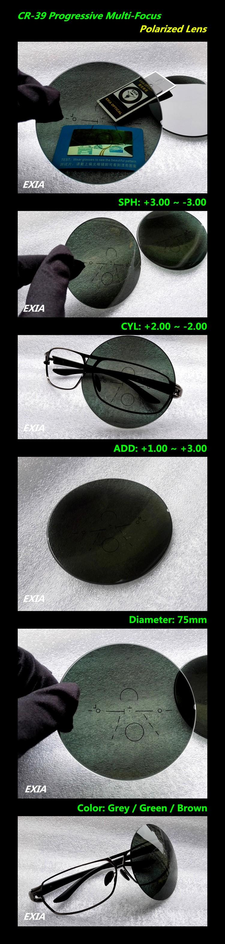 717a889d412 1.56 Index Optical Progressive Polarized Grey Sunglasses Lenses ...