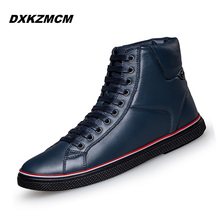 2017 Fashion Winter Men Shoes, Lace Up Super Warm Cow Leather Men Boots, Casual Men Ankle Boots