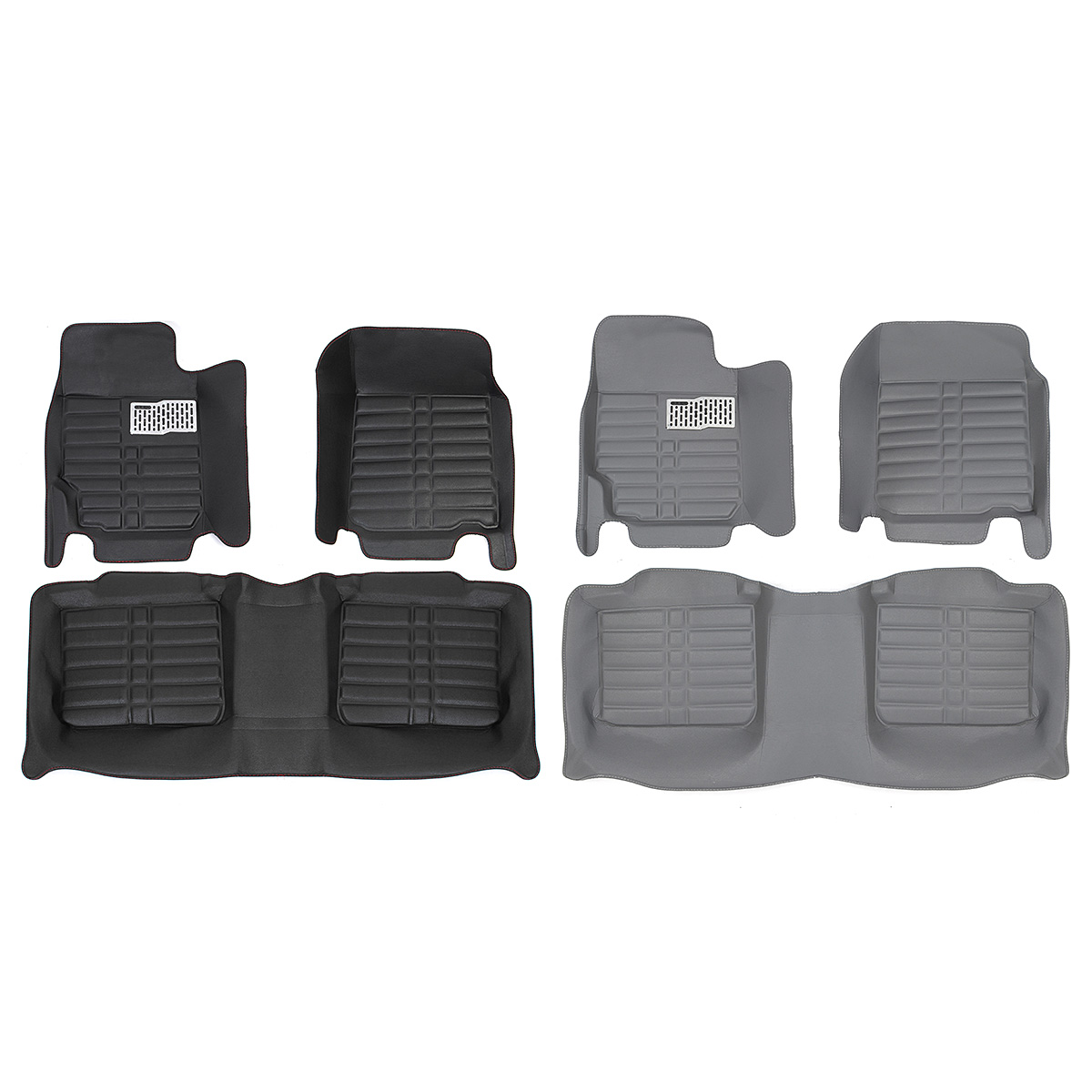 3Pcs PU Leather Black Gray Car Front + Rear Leather Liner Floor Mat Waterproof Decoration Mat Carpet For Toyota CAMRY 2006-2011 customs 5 seats 1 set car floor mat leather waterproof front