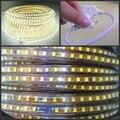 220 V tira conduzida 2835 120led/M fita Flexível luz da corda À Prova D' Água quente Frio branco 1 m 2 m 5 m 10 m 15 m 20 m 25 m 50 m 100 m UE poder plugue
