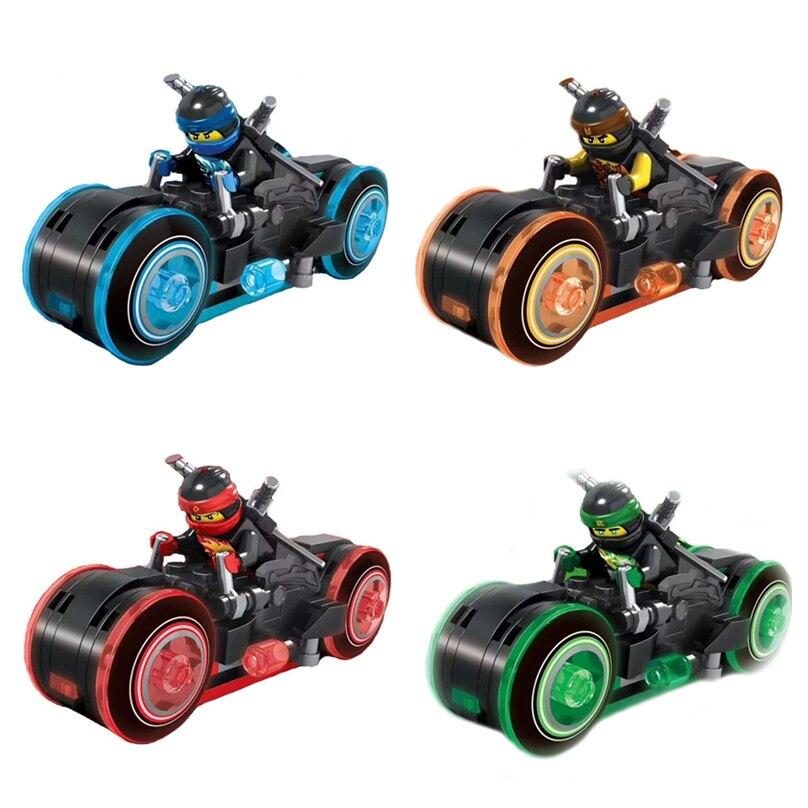 4 шт./компл. Новый Ninja мотоциклетные рыцарь строительные блоки игрушка для детей совместимы LegoINGly NinjagoINGlys DIY Кирпичи для детей