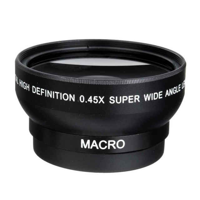 49mm 0.45x Wide Angle Camera Lens With Macro Lens for Sony Alpha NEX-3 NEX-5 NEX-5N for Sony Alpha A3000 SLR with 18-55 lens